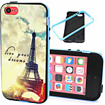 The Eiffel Tower  Pattern TPU Plus PC Border Phone Case For iPhone 5C