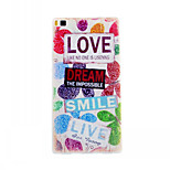 Letter Pattern TPU Material Soft Phone Case for Huawei P8
