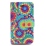 Colourful Big Flower Pattern PU Leather Phone Holster  For iPhone 4/4S