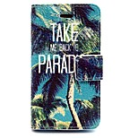 Coconut Tree Pattern PU Leather Full Body Case with Card Slot and Stand for iPhone 4/4G