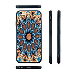 Devil Flower Pattern Silica Gel Edge Back Case for iPhone 6