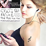 Love Musical Note Tattoo Stickers Temporary Tattoos(1 Pc)