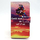 Balloon Pattern PU Leather Full Body Case with Card Slot and Stand for iPhone 5/5S