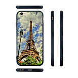 Painting The Eiffel Tower Pattern Silicone Rubber Edge Hard Back Case for iPhone 6