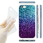 Glitter Gradient Color Pattern TPU Soft Back Case for iPhone 6