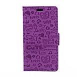 5 polegadas caso bruxinha padrão padrão de luxo pu couro carteira de salto blackberry (cores sortidas)