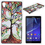 Colored Trees Pattern Material TPU Soft Phone Case for Sony Xperia Z3