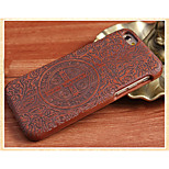 Cross Back Cover Solid Wood Protective Shell for iPhone 6
