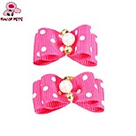 FUN OF PETS® Lovely Ribbon Style Rubber Band Hair Bow for Pet Dogs(Random Colour)