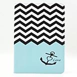 motif de vague cuir PU cas complète du corps avec support pour iPad 2 ipad air 6
