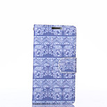 Elephant Pattern PU Leather Full Body Case with Stand for LG L70