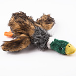 Classical 8inch  Stuffed Plush Squeaking Duck Pet Toy for Dogs & Cats