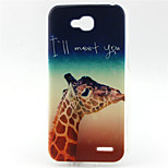 Giraffe   Pattern TPU Soft Back Cover for LG L90