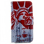 Goddess of Liberty Pattern PU Leather Case for iPhone 5/5S