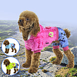 PETSOO winter Dog Clothes Stripes Crystal velvet Pet Apparel with petals decorated