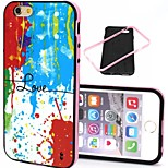 2-in-1 Colorful Love Pattern TPU Back Cover with PC Bumper Shockproof Soft Case for iPhone 6