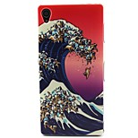Wave Pattern TPU Material Soft Phone Case for Sony Xperia Z3