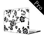 Elegant Design Flower Pattern Full-Body Protective Case for MacBook Pro 13