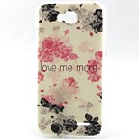 Black Flowers Pattern TPU Material Phone Case for LG L90 D405