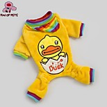 FUN OF PETS® Cute Duck Patten Warm Four Feet Garments for Pet Dogs(Assorted Sizes)