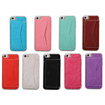 4 Inch Luxury PU Leather Case Back Cover with Stand for iPhone 5/5S(Assorted Colors)