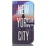 New York City Pattern PU Leather Phone Case For iPhone 6 Plus