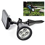 Solar Light Sensor 4-LED Spot Light Outdoor Lawn Landscape Path Way Garden Lamp