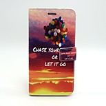 Balloon Pattern PU Leather Material Card Full Body Case for iPhone 6