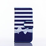 Bow Pattern PU Leather Material Card Full Body Case for iPhone 5/5S