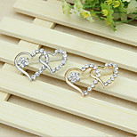 The Silver Double Heart Brooch Clothing Accessories
