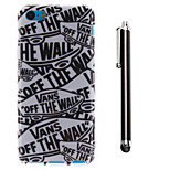 White Letters Pattern TPU Soft Back and A Stylus Touch Pen for iPhone 5C