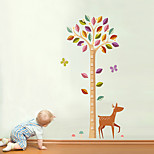 Wall Stickers Wall Decals Style The Giraffe Trees Measure Your Height PVC Wall Stickers