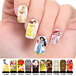 10pcs Mixed Packing Nail Foil Art Armour Wraps Patch Stickers-White Series