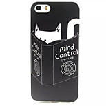 Cat Thinking Pattern TPU Painted Soft Back Cover for iPhone 5/5S