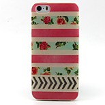 Red Stripe Pattern TPU Material Phone Case for iPhone 5/5S