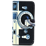 Camera  Pattern PU Leather Phone Case For iPhone 6