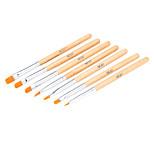7pcs Nail Art Design Painting Tool Pen Polish Brush Set Kit DIY Professional