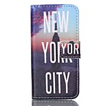 Fashion Design COCO FUN® New York Nights Pattern PU Full Body Leather Wallet Flip Case Cover for iPhone 5/5S