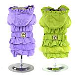 PETSOO Fold three layer Gauze Belt Dog Coat Winter Pet Clothes