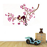 Wall Stickers Wall Decals Style Naughty Monkey Climbing Tree PVC Wall Stickers