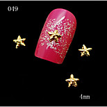 10pcs/lot 4mm 3D Nail Art Decorations Glitter Golden Silver Star Studs Nail Art Tips Craft DIY Accessories