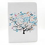 Colorful Tree PU Leather Full Body Case with Stand for Ipad Air 2