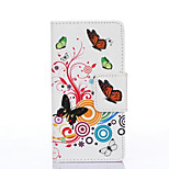 PU Painted Colorful Butterfly Wallet Mobile Phone Case for Huawei P8