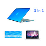 Crystal 3 in 1 Full Body Case with Keyboard Cover and HD Screen Protector for Macbook Pro 15.4