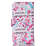 Safflower  Pattern PU Leather Double-Sided Phone Case For iPhone 5/5S