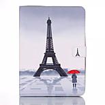 sändning tornet mönster PU läder plånbok hela kroppen fallet med skärmskydd till Samsung Galaxy Tab som T350