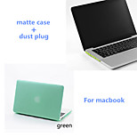 Solid Colors Matte Full Body Hard Case with Silicone Dust Plug for Macbook Retina 15.4