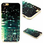 Bright Raindrop Pattern TPU Material Phone Case For iPhone 6