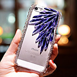Feather Diamond Glass Pattern Hard Back Back Case for iPhone4/4S