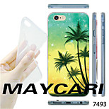 MAYCARI®Coconut Tree Pattern TPU Soft Transparent Back Case for iPhone 6